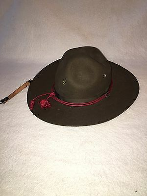 Vintage Stetson Boy Scouts Of America Leader Felt Hat With Tassel BSA New York