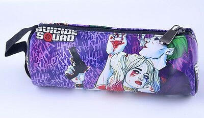 Suicide Squad Harley Quinn Pencil Pen Case Cosmetic Make Up Bag Storage Pouch