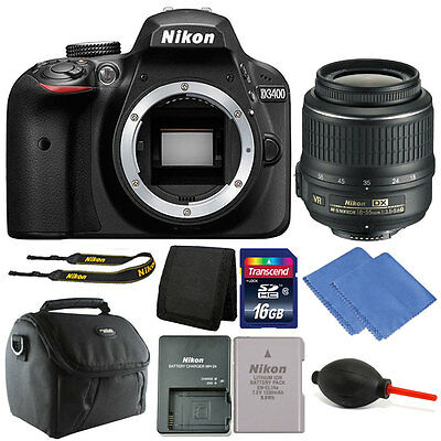 Nikon D3400 24MP Digital SLR Camera with 18-55mm VR Lens + 16GB Great Value Kit!