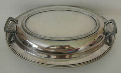 Poole Silver Co EPNS 1104 Buffet Covered Serving Dish Server Silverplated Plate