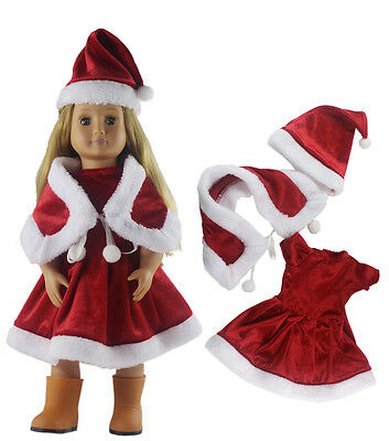 "High-quality Doll Clothes Christmas Costume Xmas Dress for 18""American Girl"