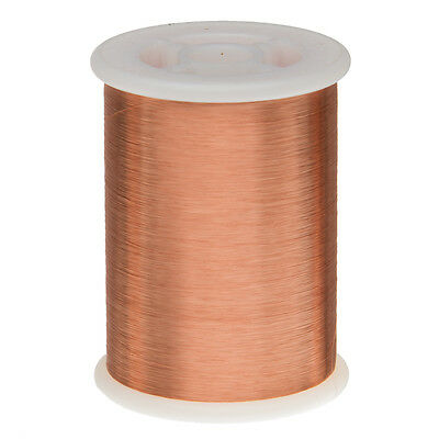 "42.5 AWG Gauge Enameled Copper Magnet Wire 1.0lbs 55635' Length 0.0025"" 155C Nat"