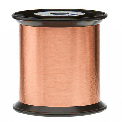 """42.5 AWG Gauge Enameled Copper Magnet Wire 5.0 lbs 0.0025"""" 155C Natural MW-79-C"""