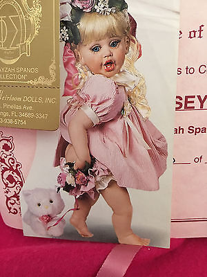 """Fayzah Spanos """"oopsey Kitty"""" Doll #520/1500 In 1997Coa,hand Tag Box Kitty&stand"""