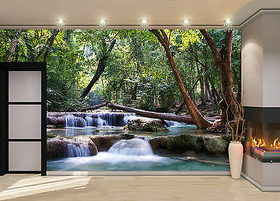 Waterfall Cascades Wall Mural Photo Wallpaper GIANT DECOR Paper Poster
