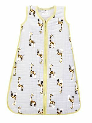 Unisex Baby Four Layer Cosy Cotton Muslin Sleeping Bag 0-6 & 12-18 Months