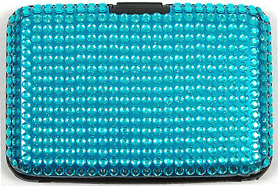 Wholesale Lot Women's RFID Blocking Aluminum Card Case Wallet w/ Bead Asst Color