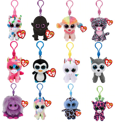 """Ty Beanie Clip ❤ 5"""" Babie Baby Keychain Easter Basket Plush Over 80 Varieties !"""