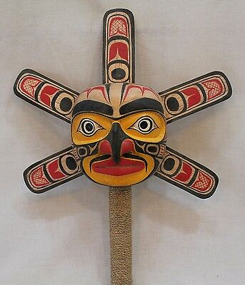 Northwest Indian Style Sun Face Mask Rattle #2287