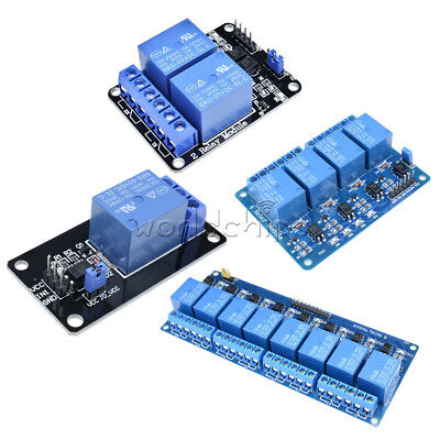 5V 1/2/4/8 Channel Relay Board Module Optocoupler LED for Arduino PiC ARM AVRC W