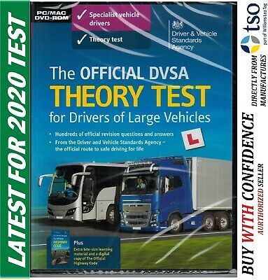 DVSA THEORY TEST DVD-ROM CD Q&A FOR LORRY AND BUS DRIVERS LGV / PCV / HGV LgvDVD