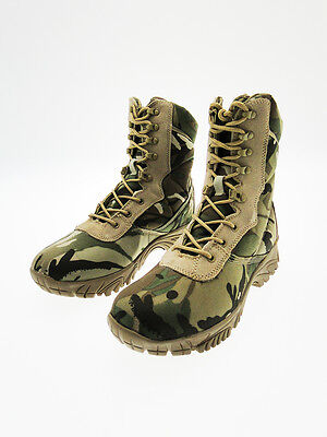 Combat boots faux leather and cordura top grip Multicam