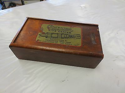 Vintage Wooden Box Concentric Live Tool Center Morse Taper 4 Dovetail Wood