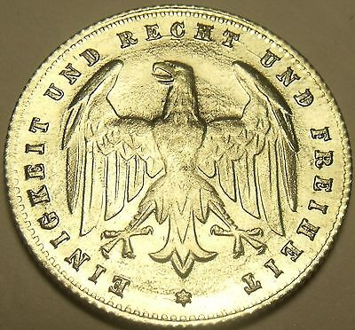 Rare Gem Unc Germany Weimar Republic 1923-G 200 Mark~Awesome Eagle~Free Shipping