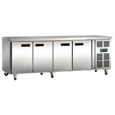 Polar Refrigerated Stainless Counter Fridge 449 Ltr, 4 Door, G379, 2yrs warranty