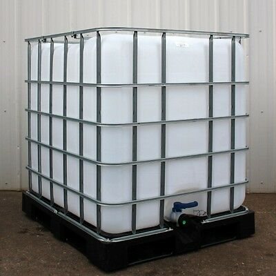 275 IBC Totes with Metal Cage with intergrated pallet attached.