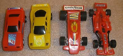 Slot car lot of 4 cars runners parts lot nice condition