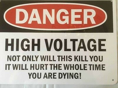 "DANGER High Voltage 10x14"" Aluminum Sign"