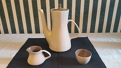 Poole Pottery Twin Tone Large Coffee Pot Tea Pot , Cream And Sugar