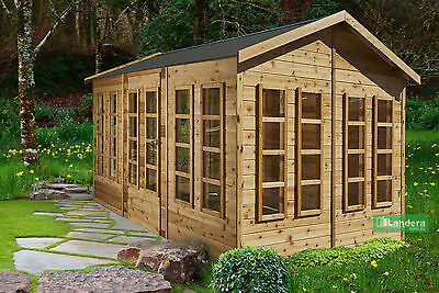 Sun Room / Conservatory / Garden room Shed -Cedar cladding, easy kitset assembly