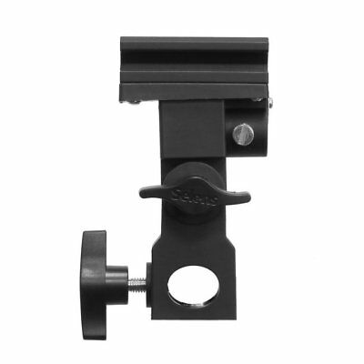 Photo Flash Bracket B Adapter Hot Shoe Swivel Light Stand Mount Umbrella Holder