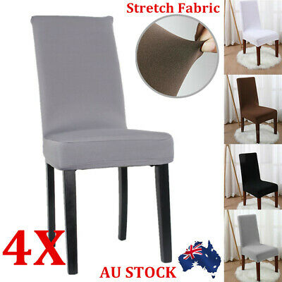 NEW 2-8pcs Stretch Lyrca Dining Chair Cover Removable Slipcover Washable Party