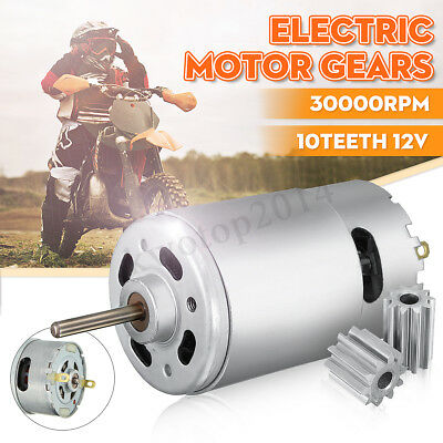 12V 30000 RPM 10 Teeth Electric Motor Gear For Kids Ride On Bike Toy Parts New