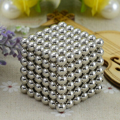 216Pcs 5mm DIY Magic Silver Beads Sphere Ball Fun Puzzle Toys For Children Kids