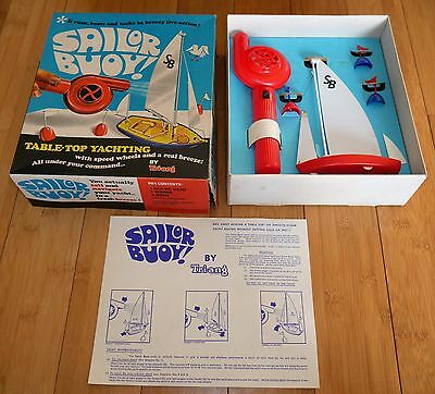 VINTAGE TRIANG SAILOR BUOY! YACHT BOXED 1960's RARE EXCELLENT WORKING CONDITION