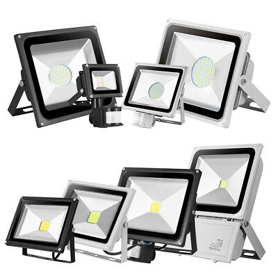 LED Floodlight PIR Sensor Motion 10/20/30/50W SMD Security Lights Garden Outdoor
