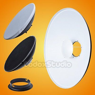 [UK]55cm White Honeycomb Grid Beauty Dish Elinchrom Mount (Speedring Changeable)