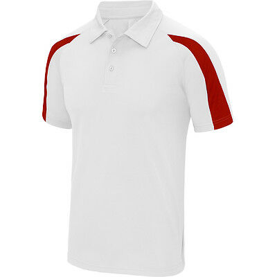 Designa Just Cool Darts Shirt - White with Red - Breathable- Small to 2XL