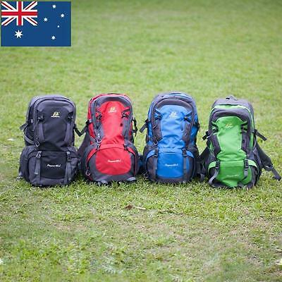 40L Waterproof Outdoor Backpack Athletic Sport Hiking Travel Rucksack Bag AU