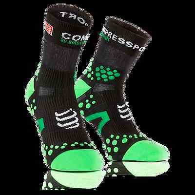 Calze Compressport Pro Racing Socks V2.1 Run Nero Verde Tg. T3 (42-44)