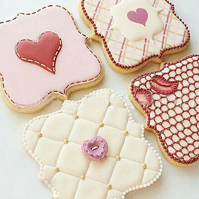3pcs Stainless Steel Cookies Pastry Cake Decorate Mold Frame Cutter Kitchen Tool