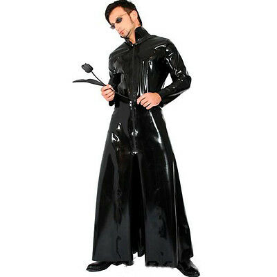 Die Matrix Cosplay x-men Overcoat Kunstleder Männer sexy Kostüm Wet Look Catsuit