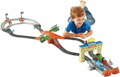 Railway Racing Track Set TrackMaster Percy Great Engine Race Thomas & Friends