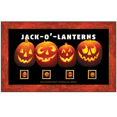 USPS New Jack-o-lanterns Framed Art