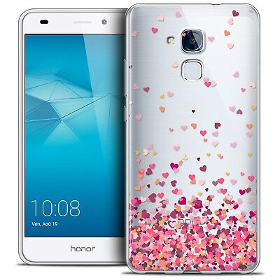 Coque Crystal Gel Huawei Honor 5C Extra Fine Souple Sweetie Heart Flakes