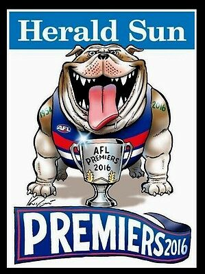 2016 AFL Premiers Grand Final Western Bulldogs Weg Premiership poster Framed