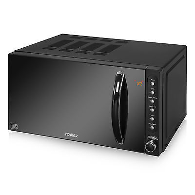 BRAND NEW: Tower T24008 20Ltr - 800w Digital Microwave 6 Power Levels in Black