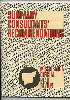 Old 1974 Mississauga Ontario Official Plan Review Booklet