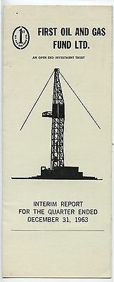 Old 1963 First Oil & Gas Fund Alberta Interim Report Pamphlet