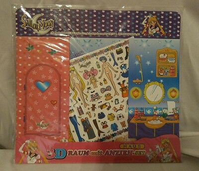 Sailor Moon 3D Room House Paper Doll Sticker/Decal Set *New *NBO