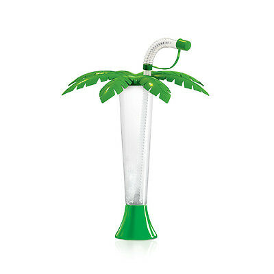 Palm Tree Yard cup Slush cup 9oz / 250ml Palm Lid Yarder - GREEN (108 per box)
