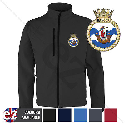 HMS Bangor - Royal Navy - Softshell Jacket - Personalised text available