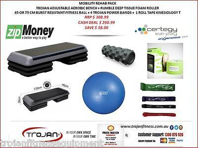 Mobility Pack Foam Roller Trigger Point Step Fitball Power Band body Tape Rehab
