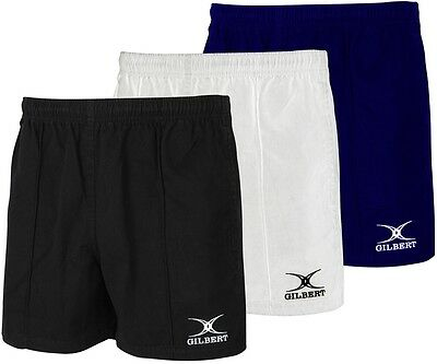 Rugby Shorts - Gilbert Kiwi Pro Short Rrp £25 - Mens And Kids Black