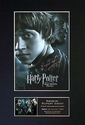 RUPERT GRINT Harry Potter Signed Mounted Autograph Photo Prints A4 #134