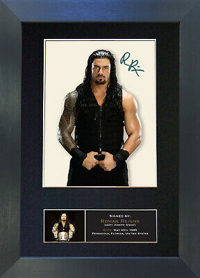 ROMAN REIGNS WWE Signed Mounted Autograph Photo Prints A4 #428
